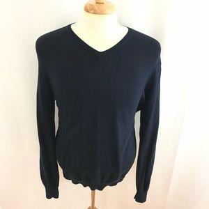 J. Crew Navy Blue V-neck Sweater